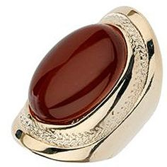 Brown Imitation Cats Eye Stone Ring ($12) ❤ liked on Polyvore