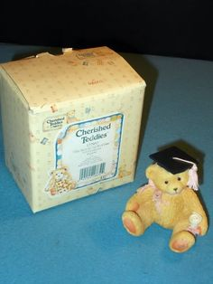 "Enesco Cherished Teddies ""The Best is Yet to Come"" Girl Graduation Figurine 1995"