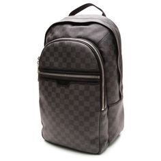 Pre-Owned Louis Vuitton Damier Graphite Canvas Michael Backpack (5 080 PLN) ❤ liked on Polyvore featuring bags, backpacks, initial bags, louis vuitton backpack, preowned bags, canvas zipper bag and canvas zip bag