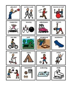 Visual Schedule(s) PECS, First-Then-Next boards, Choice boards Physical Activities For Kids, Autism Activities, Autism Resources, Autism Apps, Movement Activities, Summer Activities, Images Pecs, Pecs Pictures, Special Education