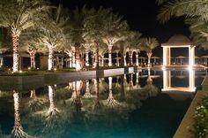 Pool At Night, Hilton Resort, Ras Al Khaimah, UAE