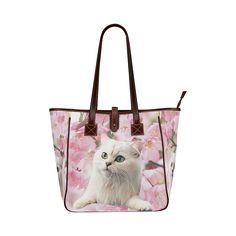 Cat and Flowers Classic Tote Bag (Model 1644)