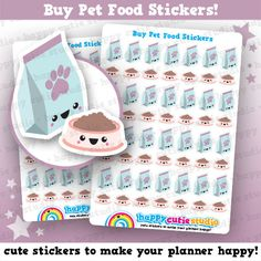 One sheet of 64 vets stickers, perfect for your planner! • Pet food bag stickers…