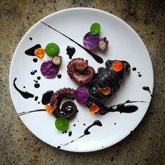 "By @lvin1stbite ""Octopus, purple cabbage, tagliolini, squid ink sauce and nasturtium..."" #foodphotography #f52grams #food #foodporn #gourmet #instagramfood #chef #foodart #lovefood #artofplating #instafood #yummy #foodpic #photooftheday #instagourmet #dinner #foodvsco #dessert #delicious #taste #foodartchefs #eat #gastronomy #love #foodie #cook #cooking #foodgasm #culinaryart"