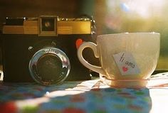 Tea and cameras. A perfect combo.