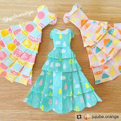 - Beautiful dress for pretty Princess. Origami Videos, Origami Art, Apron, Summer Dresses, Google, Fashion, Moda, Summer Sundresses, Fashion Styles