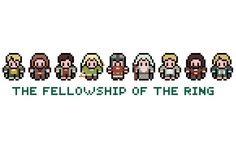 Lord Of The Rings Cross Stitch Pattern (PDF). £2.50, via Etsy.