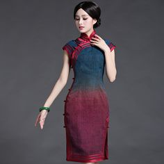 Classic quality tortoise silk chinese style cheongsam summer one-piece dress women's vintage elegant