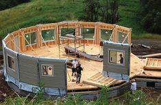 deltec homes prefab construction Prefabricated Houses, Prefab Homes, Modular Homes, Tiny Homes, Eco Homes, Casa Octagonal, Green Magic Homes, Round House Plans, Yurt Home