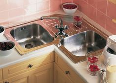 1000 images about sinks corner on pinterest corner for Small kitchen designs with corner sinks