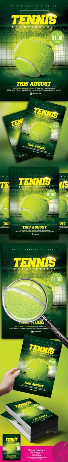 17 Best Tennis Classes Flyer images Sports flyer, Tennis, Event flyers