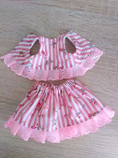 Best 12 summer suit, skirt and blouse for 11 inch textile doll. Cotton summer suit-skirt and blouse decorated with cotton lace Sewing Doll Clothes, Baby Doll Clothes, Doll Clothes Patterns, Barbie Clothes, Frocks For Girls, Kids Frocks, Little Girl Dresses, Kids Dress Wear, Baby Dress Design