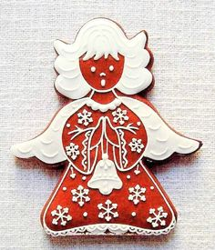 Today we are looking at Moravian and Bohemian gingerbread designs from the Czech Republic. Back home, gingerbread is eaten year round and beautifully decorated cookies are given on all occasions. Gingerbread Man, Gingerbread Cookies, Christmas Cookies, Christmas Ornaments, Best Banana Bread, Christmas Treats, Back Home, Czech Republic, Cookie Decorating