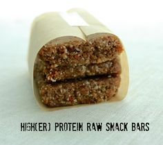 Higher Protein Raw Snack Bars - Easy to customize!