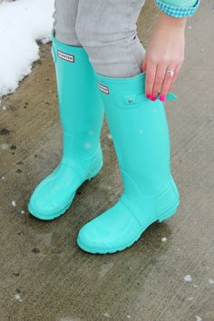Hunter boots, love the color