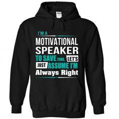 Motivational Speaker T Shirts, Hoodies Sweatshirts. Check price ==► http://store.customtshirts.xyz/go.php?u=https://www.sunfrog.com/States/Motivational-Speaker-8737-Black-Hoodie.html?41382