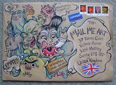 Mail art. love this illustration style #snailmail #envelope