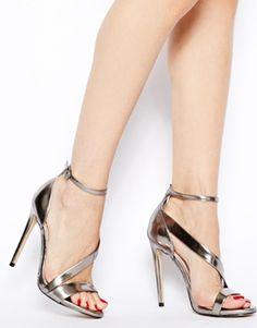 Image 4 ofCarvela Gosh Gunmetal Single Sole Heeled Sandals