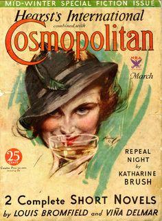 Cosmopolitan magazine, MARCH 1934 Artist: Harrion Fisher