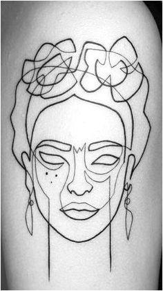 Billedresultat for frida kahlo drawing One Line Tattoo, Line Art Tattoos, Wolf Tattoos, Finger Tattoos, Body Art Tattoos, Frida Tattoo, Frida Kahlo Tattoos, Pixie Tattoo, Diy Tattoo