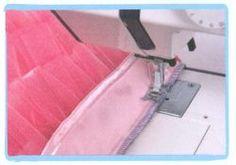coser falda de volantes de tul - paso 3