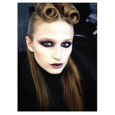 Behind the scenes for #hungertv editorial • makeup by milavictoria • Hair by Jolanda Co...