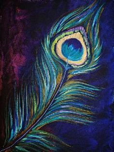 Peacock Feather By Cinnamon Cooney The Art Sherpa as a Fully guided art… Peacock Painting, Peacock Art, Peacock Feathers, Peacock Canvas, Purple Painting, Peacock Colors, Peacock Design, The Art Sherpa, Pastel Art