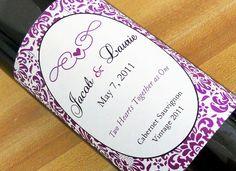 Purple Custom Wine Labels