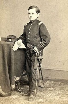 """Thomas """"Tad"""" Lincoln was the fourth and youngest son of Abraham and Mary Lincoln. The nickname """"Tad"""" was given to him by his father who found Thomas """"as wriggly as a tadpole"""" when he was a baby. Tad was known to be impulsive and unrestrained, and did not attend school. He had free run of the White House, and there are stories of him interrupting Presidential meetings, collecting animals, and charging visitors to see his father. Tad outlived his father, but died of heart failure ~ BFD"""