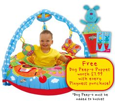 A soft multi-sensory environment with a fun farm scene around the Playnest and the Gym as the sky above. #GaltToys