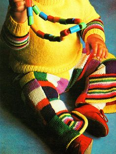 Items similar to PDF Vintage Baby Knitting Pattern PATCHWORK Flare Trouser Suit Rainbow Toddler Pants Psychedelic Hippy Festival Folk Rustic Groovy on Etsy Baby Knitting Patterns, Baby Patterns, Crochet Patterns, Folk Festival, Hippie Festival, Hippie Baby, Cerise Pink, Vintage Space, Quick Knits