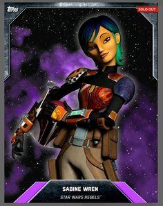 2016 Topps Star Wars Card Trader Preview SABINE WREN Series 3 Purple Base REBELS