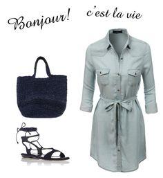 """Bonjour"" by rcantando on Polyvore featuring LE3NO, Miu Miu and Leon & Harper"