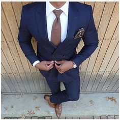 New Fashion Dark Blue Wedding Suits 2 Pieces Mens Suits Slim Fit (JacketPants) Groom Tuxedos Groomsman Suits Business Suits (32794195872) SEE MORE #SuperDeals