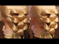 "Причёска на резинках - ""Лилии"" - Hair tutorial - Hairstyles by REM - YouTube"