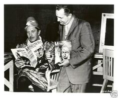 Vincent Price and Forrest J. Ackerman on the set of The Raven (1963)