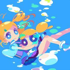 Tags: Anime, Fanart, Power Puff Girls Z, Goutokuji Miyako, Rolling Bubbles
