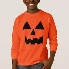 Jackolantern Face T-Shirt - holidays diy custom design cyo holiday family