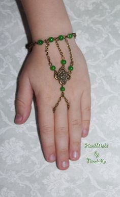 slave bracelet green for little girl made by Ninel-Ka