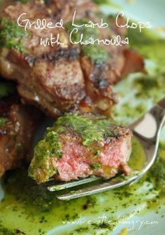 Grilled Moroccan Lamb Chops with Charmoula (aka the best low carb condiment ever made!) - www.ibreatheimhungry.com