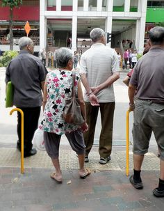 """Pit Stop Posts –one of 19 IDEO """"Design for Aging"""" concepts. Street furniture shaped like walking sticks and installed at intersections."""