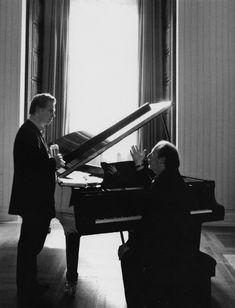 Christopher Nolan and Hans Zimmer at work.