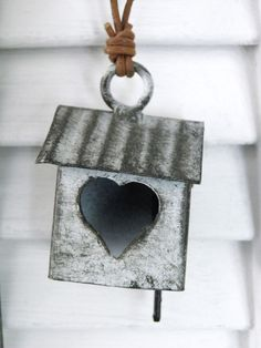 teeny zinc birdhouse