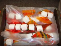 Butterfly Marshmallows with Fruit Roll-up wings Bug Party Food, Fruit Roll Ups, Marshmallows, Rolls, Wings, Butterfly, Breakfast, Marshmallow, Morning Coffee