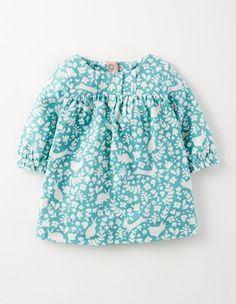 Chambray Stencil Super Soft Jersey Dress Boden 12-18m