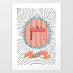 A TABLE ! Art Print by Mélissa Goudjil - $15.00