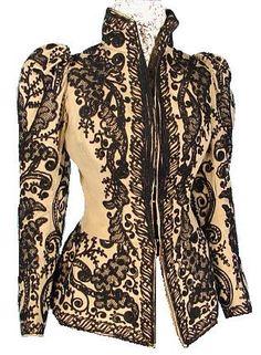 c. 1891  Wool Soutache Jacket
