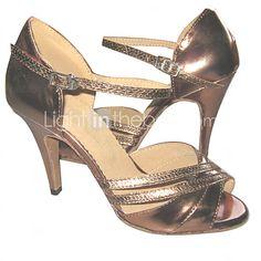 Zapatos de baile (Marrón) - Danza latina/Salsa - Personalizados - Tacón Personalizado 2016 - $21190