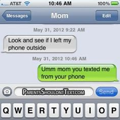 12 Funniest 'Parents Shouldn't Text' Messages of 2012 my mom would so do this lol Mom Texts, Funny Texts From Parents, Funny Text Conversations, Message Mom, Text Fails, Funny Text Messages, Lol, I Love To Laugh, Parenting Humor