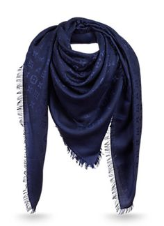 Discover Louis Vuitton Monogram Shawl  Soft and warm due to its mixture of  silk and wool this shawl is printed tone-on-tone with the Monogram pattern  signed ... e04ccffe71a